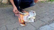Düğünde aldığı bahşiş dolarları yaktı