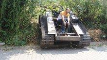 Darbecilere kızan vatandaş 'tank' yaptı