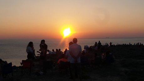 Bozcaada'da gün batımı