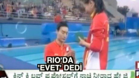Rio'da ikinci evlilik teklifi Çinlilerden