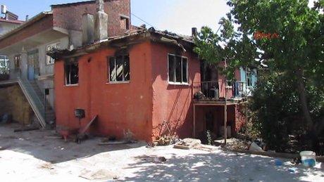 Afyonkarahisar 'benzinle evi ateşe verdi'