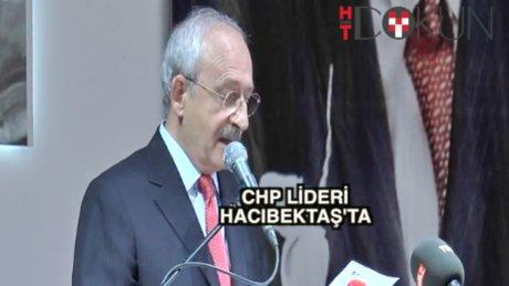 Kılıçdaroğlu Hacıbektaş'ta konuştu