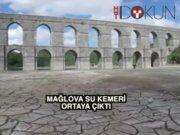 Sular çekildi Moğlova su kemeri ortaya çıktı