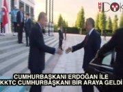 Cumhurbaşkanı Erdoğan KKTC Cumhurbaşkanı Akıncı ile bir araya geldi