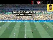 Madalya aşkına: Neymar'dan 15. saniyede gol
