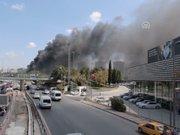 Merter'de iş merkezinde yangın