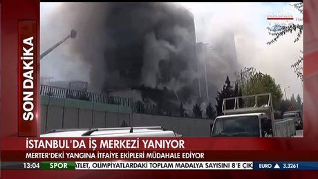 Merter'de büyük yangın