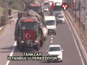 İstanbul'daki tanklar Tekirdağ'a