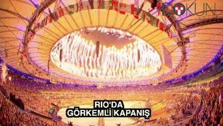 Rio'ya görkemli kapanış töreni