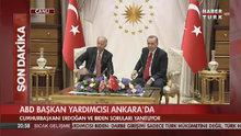 Cumhurbaşkanı Erdoğan ve ABD Başkan Yardımcısı Biden'den ortak açıklama!