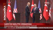 Joe Biden'la Binali Yıldırım basın açıklaması yaptı