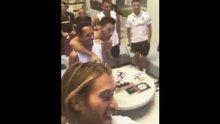 Beşiktaşlı futbolcular B Grubuna böyle sevindi