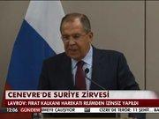Cenevre'de Suriye zirvesi