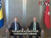 Cumhurbaşkanı Erdoğan İzzetbegoviç ve Akıncı ile bir araya geldi