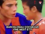 Barçalı çocuklardan fair-play dersi