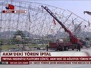 Ankara'da Atatürk Kültür Merkezi'ne kurulan sahne çöktü!