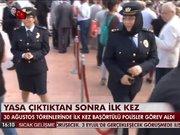 30 Ağustos Zafer Bayramı töreninde başörtülü polisler görev aldı