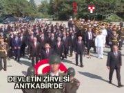 Devlet erkanı 30 Ağustos'ta Anıtkabir'deydi