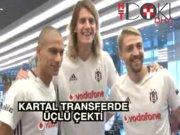 Beşiktaş'ta Caner, Gökhan ve Atınç sağlık kontrolünden geçti