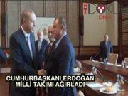 Cumhurbaşkanı Erdoğan Milli Takım'ı kabul etti