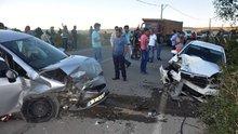 İnegöl'de trafik kazası 6 yaralı