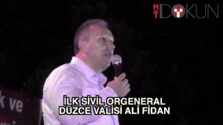 İlk sivil orgeneral: Düzce Valisi Ali Fidan