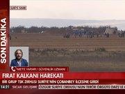 Bir grup TSK zırhlısı Çobanbey'e girdi