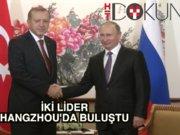 Erdoğan - Putin'le Çin'de bir araya geldi