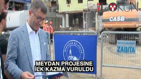Üsküdar Meydan Projesi'ne ilk kepçe vuruldu