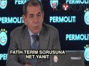 """Dursun Özbek'ten Fatih Terim yanıtı: """"Sorulmamış farzediyorum"""""""