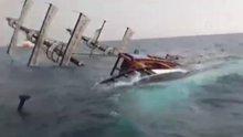 Antalya'da Yan yatan tur teknesi sulara gömüldü