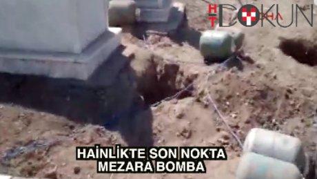 Mehdi Eker'in aile kabristanına bomba