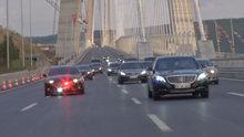 Cumhurbaşkanı Erdoğan kendi kullandığı araçla 3. köprüden geçti