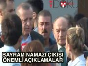 Cumhurbaşkanı Erdoğan bayram namazı çıkışı konuştu