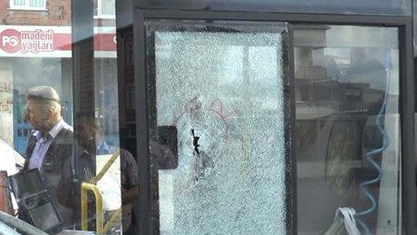 Sancaktepe'de halk otobüsüne silahlı saldırı: 1 yaralı