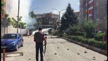 Van'da AK Parti İl Başkanlığı ile Valilik arasındaki alanda patlama