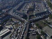 Büyük İstanbul Otogarı'ndaki dönüş trafiği havadan görüntülendi