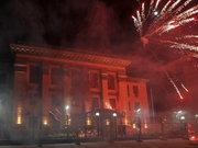 Kiev'deki Rusya Büyükelçiliğine havai fişekli saldırı