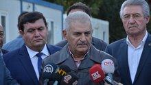Başbakan Yıldırım Heyelan nedeniyle zarar gören köyü ziyaret etti