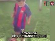 3 yaşında City'e transfer oldu