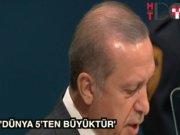 """Cumhurbaşkanı Erdoğan BM Genel Kurulu'nda: """"Dünya 5'ten büyüktür"""""""