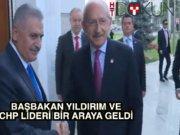 Başbakan Yıldırım ve Kılıçdaroğlu bir araya geldi