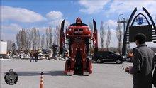 Türk mühendislerinden transformers robotu