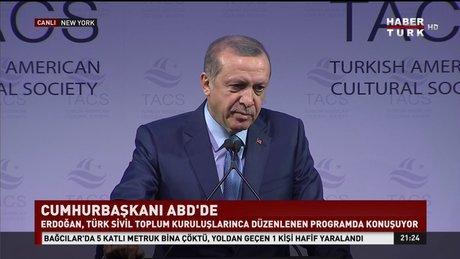 Cumhurbaşkanı Erdoğan ABD'de konuştu!