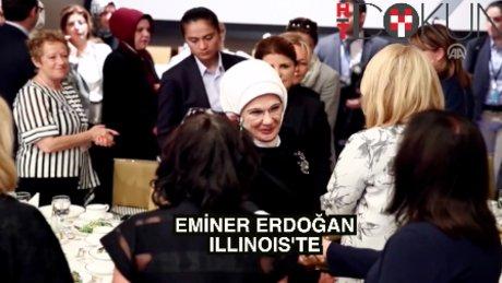 Emine Erdoğan Illinois'teydi