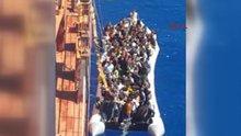 132 göçmen Türk gemisi tarafından böyle kurtarıldı