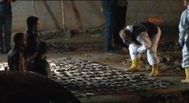 Üsküdar'da yapılan kazıda silah cephaneliği bulundu