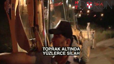 Üsküdar'da 250 tabanca bulundu