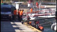 Bodrum'da lastik bot battı