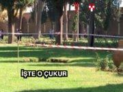Topkapı Sarayı bahçesinde üç metrelik çukur